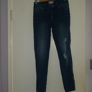 Mid Rise Dark Blue Jeans